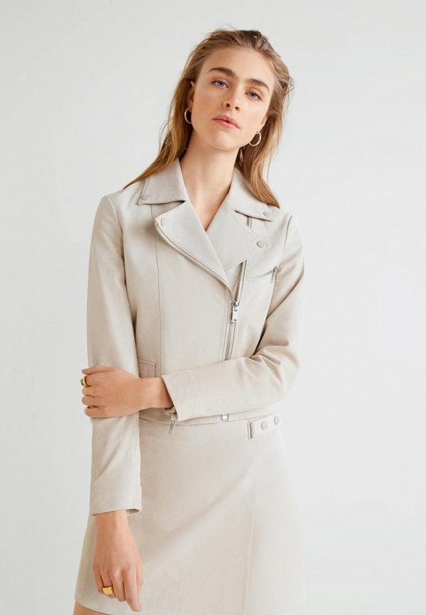 Купить Куртка кожаная Mango, - LUISA, ma002ewecoe8, серый, Весна-лето 2019