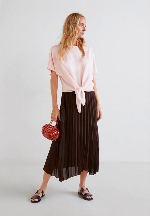 Фото 2 - женскую блузку Mango розового цвета