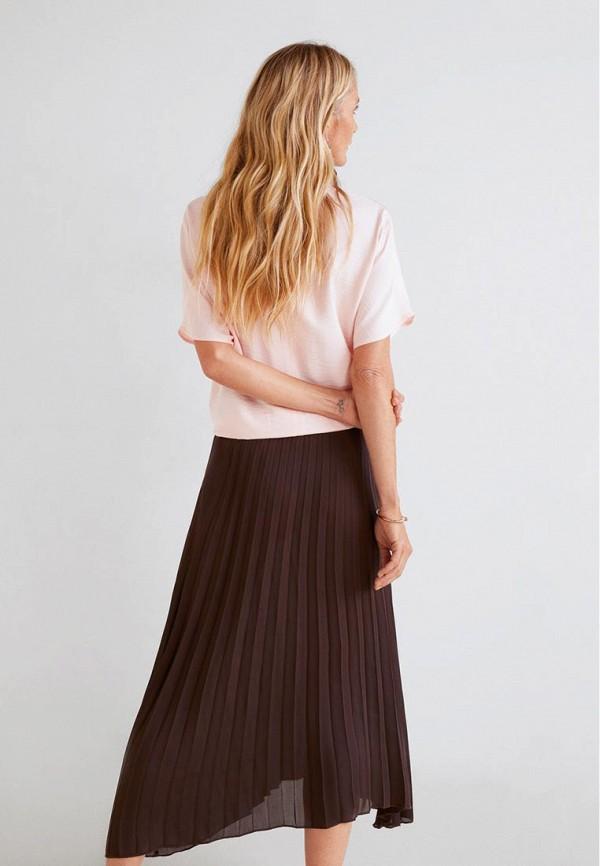Фото 3 - женскую блузку Mango розового цвета