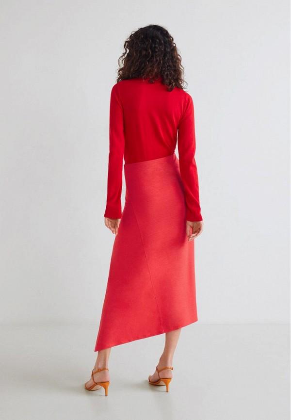 Фото 3 - женскую юбку Mango красного цвета