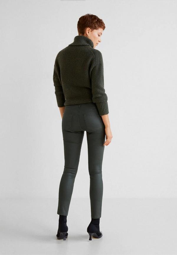Фото 3 - женские джинсы Mango цвета хаки