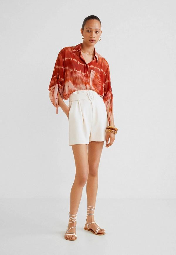 Фото 2 - женские шорты Mango белого цвета