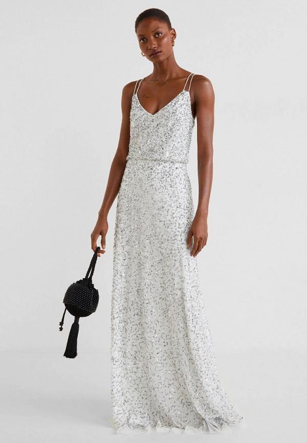 Купить Вечерние платья, Платье Mango, - CARLOTA-A, ma002ewfbtu8, белый, Весна-лето 2019