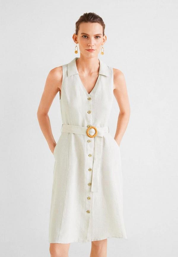 Фото - женское платье Mango серого цвета