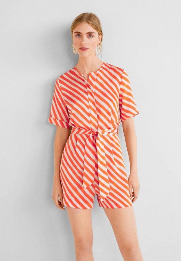 Фото - женский комбинезон Mango оранжевого цвета