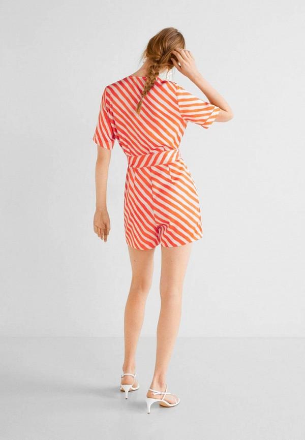 Фото 3 - женский комбинезон Mango оранжевого цвета