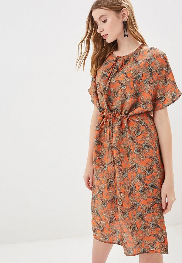 Фото - женское платье Mango оранжевого цвета