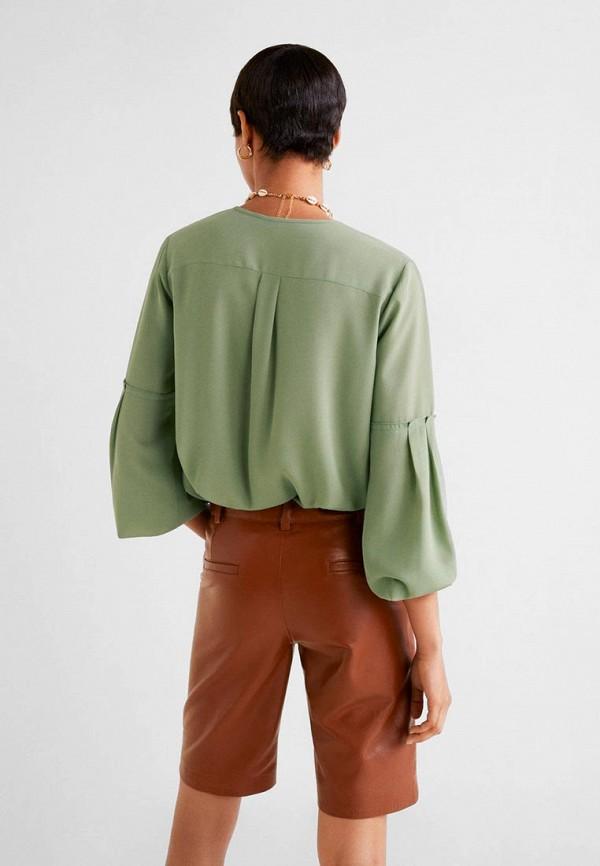 Фото 3 - женскую блузку Mango зеленого цвета