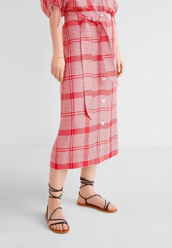 Фото - женскую юбку Mango красного цвета