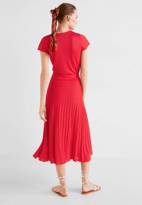 Фото 2 - женскую блузку Mango красного цвета