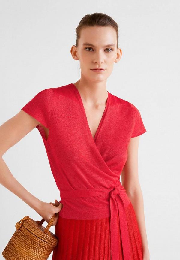 Фото 3 - женскую блузку Mango красного цвета