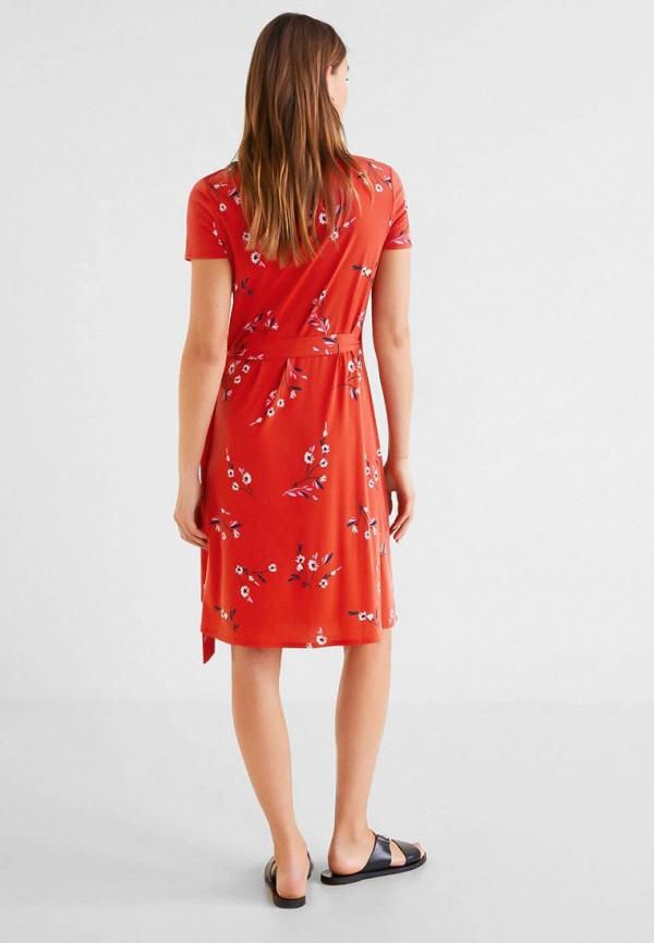 Фото 2 - женское платье Mango красного цвета