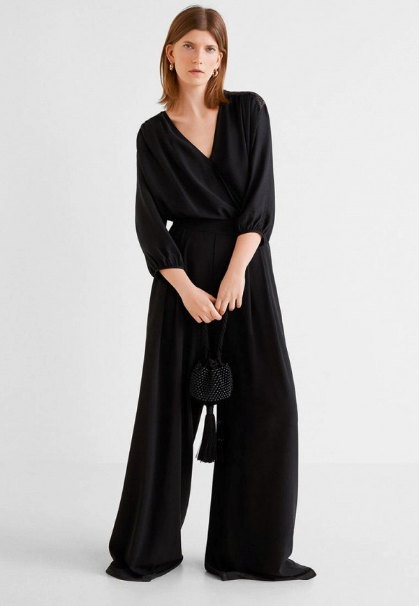 Фото 2 - женскую блузку Mango черного цвета