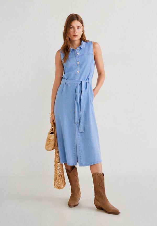 Платье джинсовое Mango Mango MA002EWFCNQ0 платье mango mango ma002eweqqi1
