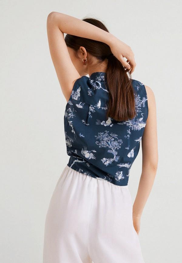 Фото 2 - женскую блузку Mango синего цвета
