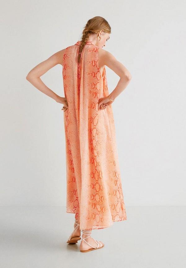 Фото 2 - женское платье Mango кораллового цвета