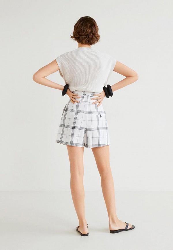 Фото 3 - женские шорты Mango белого цвета