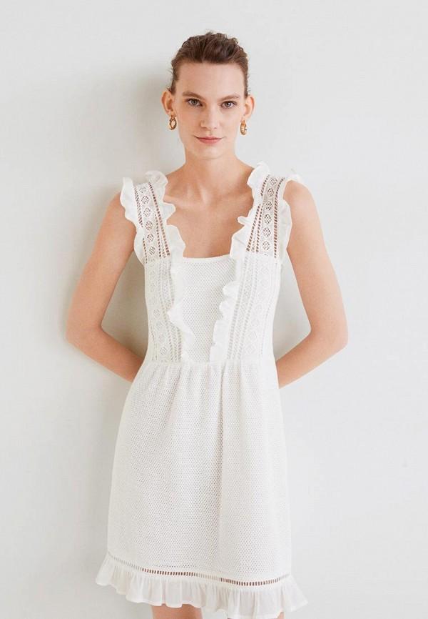 Фото - женское платье Mango белого цвета