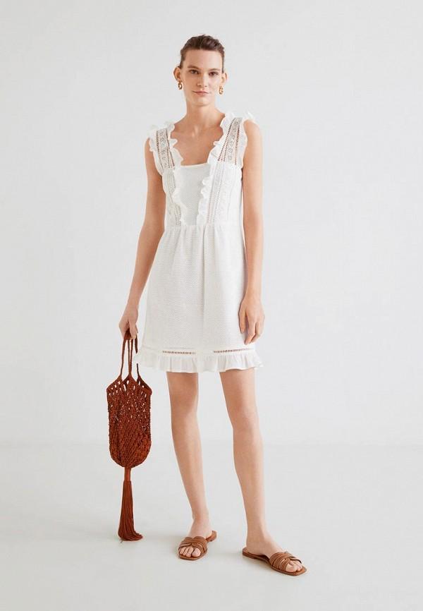 Фото 2 - женское платье Mango белого цвета