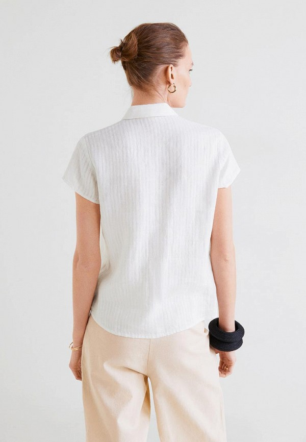 Фото 3 - женскую рубашку Mango белого цвета