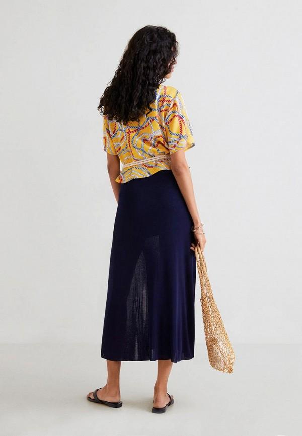 Фото 3 - женскую блузку Mango желтого цвета