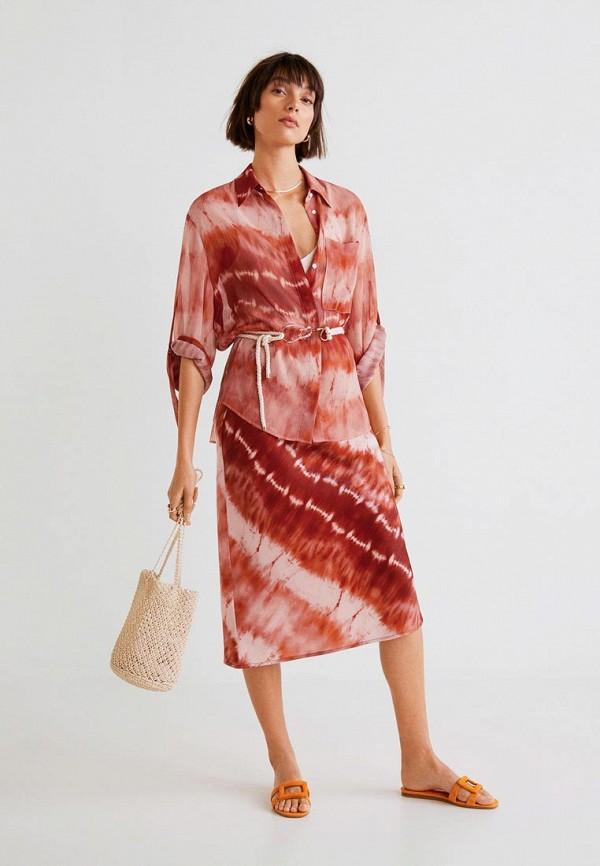 Фото 2 - женскую блузку Mango коричневого цвета