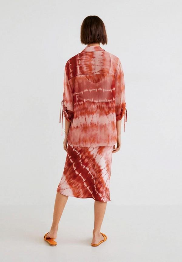 Фото 3 - женскую блузку Mango коричневого цвета