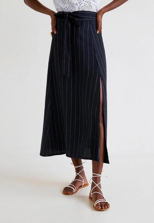 Фото - женскую юбку Mango черного цвета