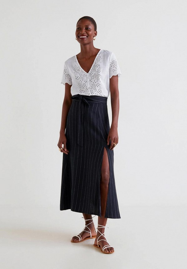 Фото 2 - женскую юбку Mango черного цвета