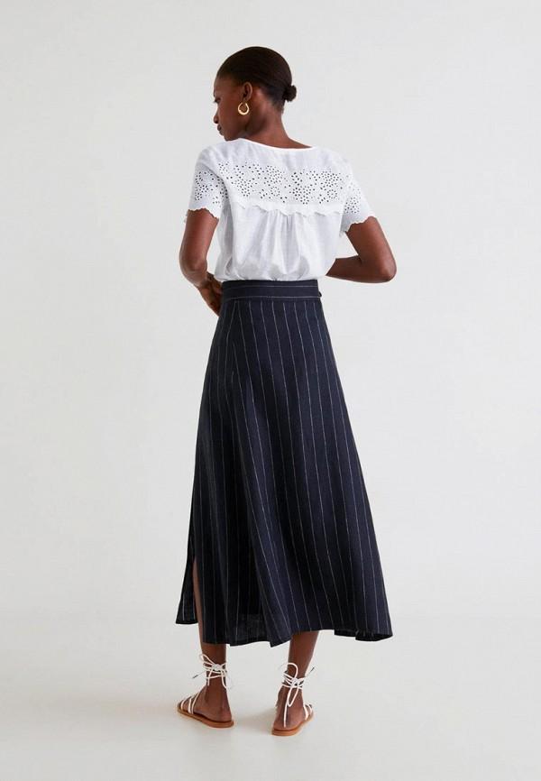 Фото 3 - женскую юбку Mango черного цвета