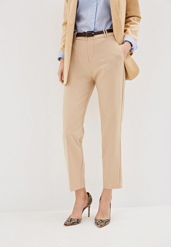 Купить женские брюки Mango бежевого цвета