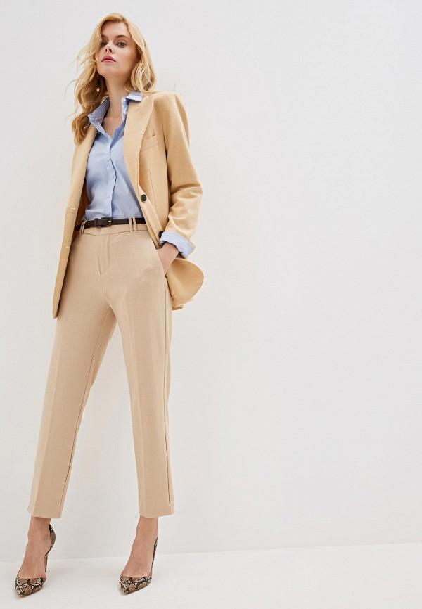 Фото 2 - женские брюки Mango бежевого цвета