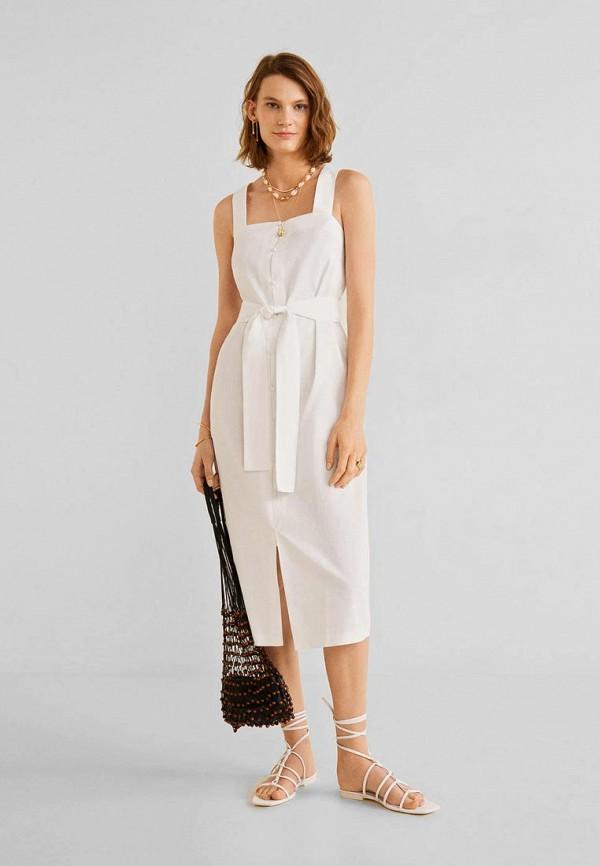 женское платье mango, белое