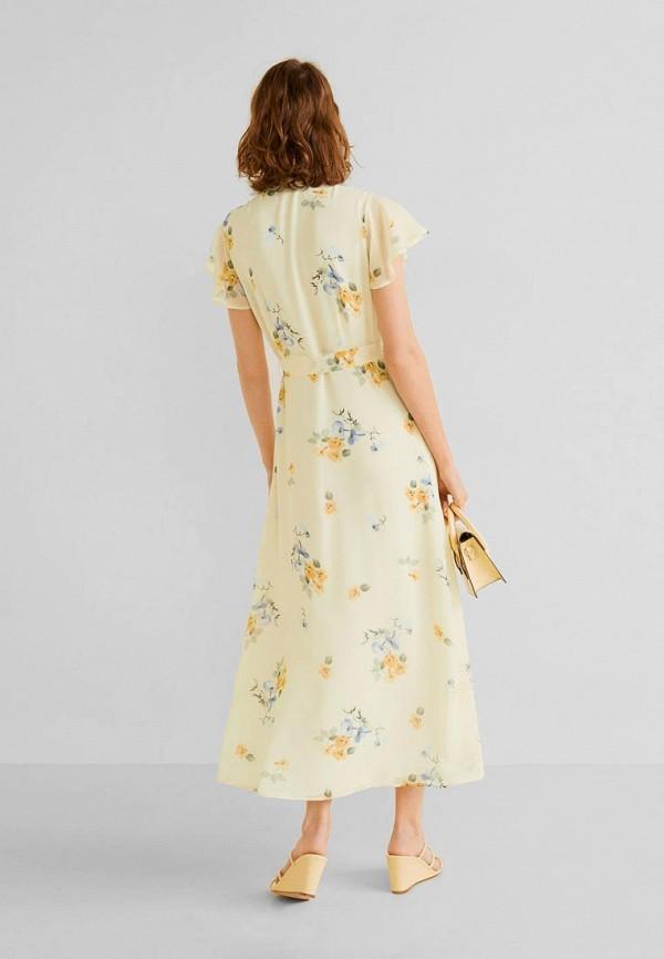 Фото 3 - женское платье Mango желтого цвета