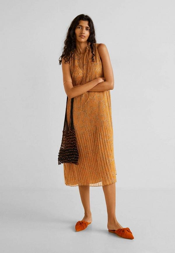 Фото 2 - женское платье Mango коричневого цвета