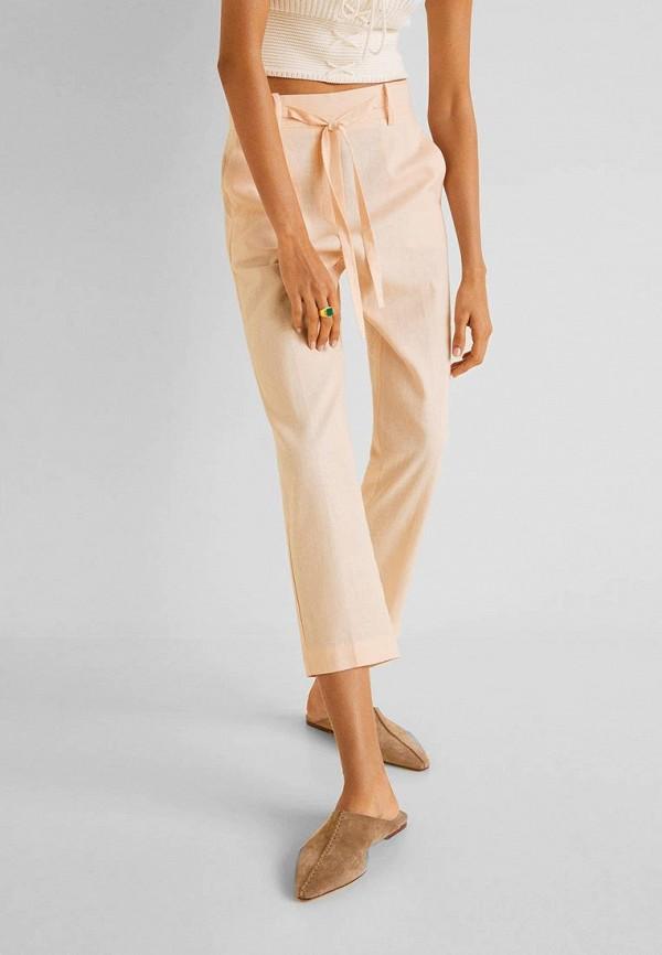 Купить женские брюки Mango оранжевого цвета