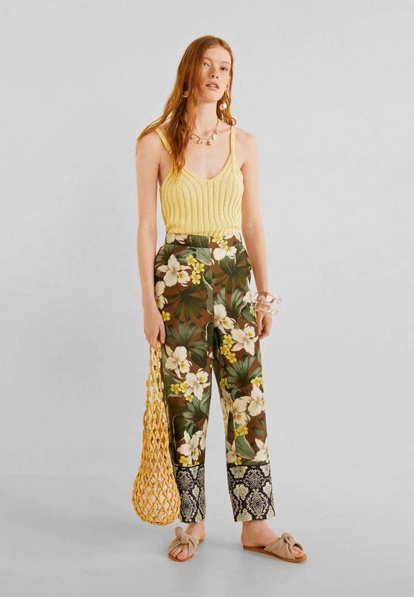 Фото 2 - женские брюки Mango разноцветного цвета
