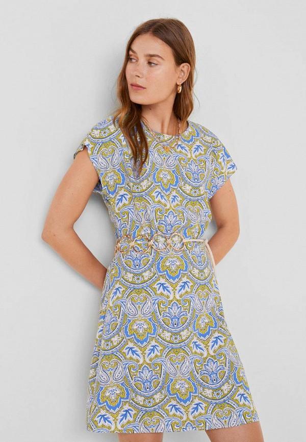 Купить женское платье Mango разноцветного цвета