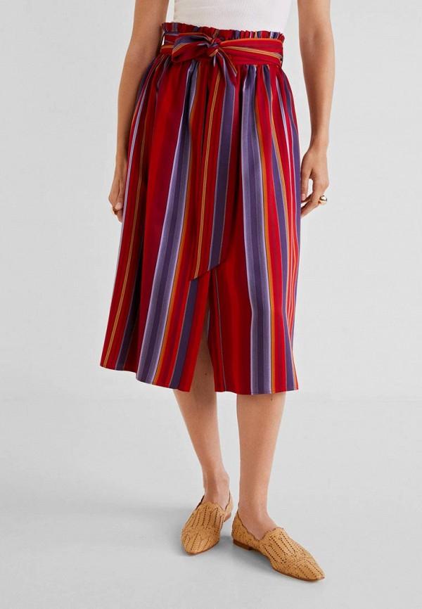 Купить женскую юбку Mango разноцветного цвета