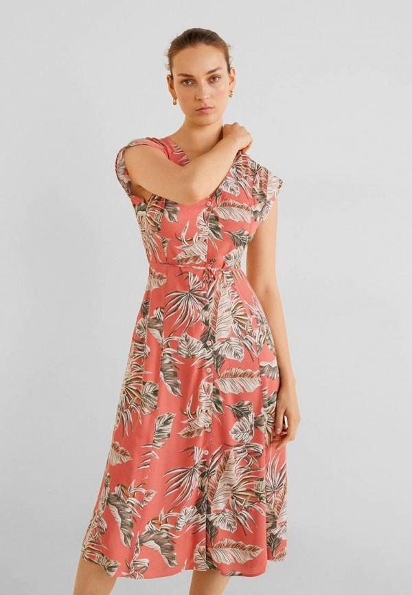 Купить женское платье Mango красного цвета