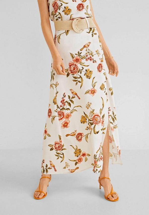 Купить женскую юбку Mango белого цвета