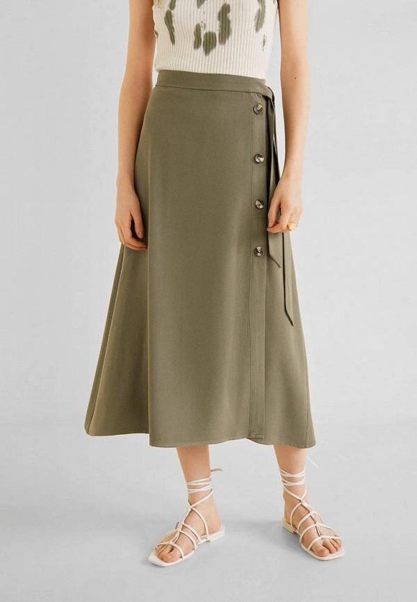 Фото - женскую юбку Mango цвета хаки