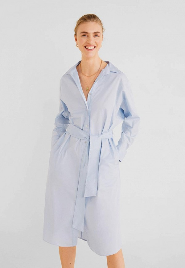 Купить женское платье Mango голубого цвета
