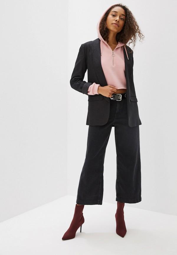 Фото 2 - женские джинсы Mango серого цвета