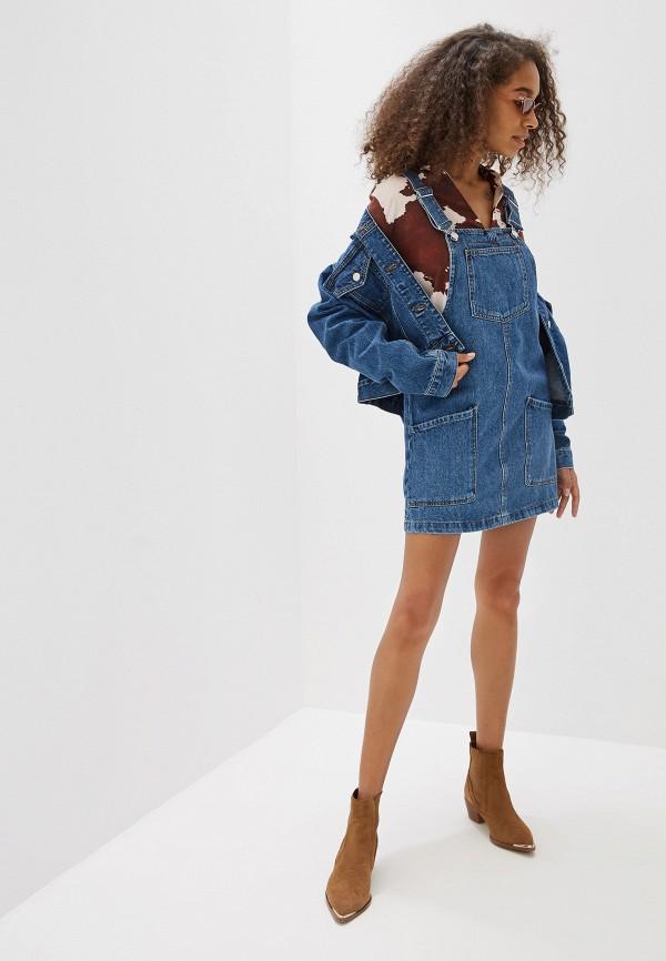 Фото 2 - Куртку джинсовая Mango синего цвета