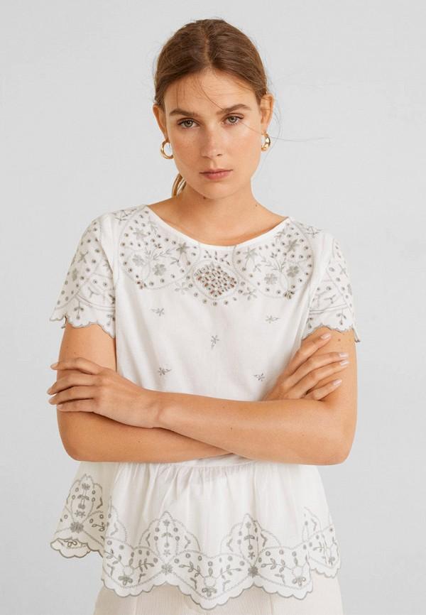 Фото 2 - женскую блузку Mango белого цвета