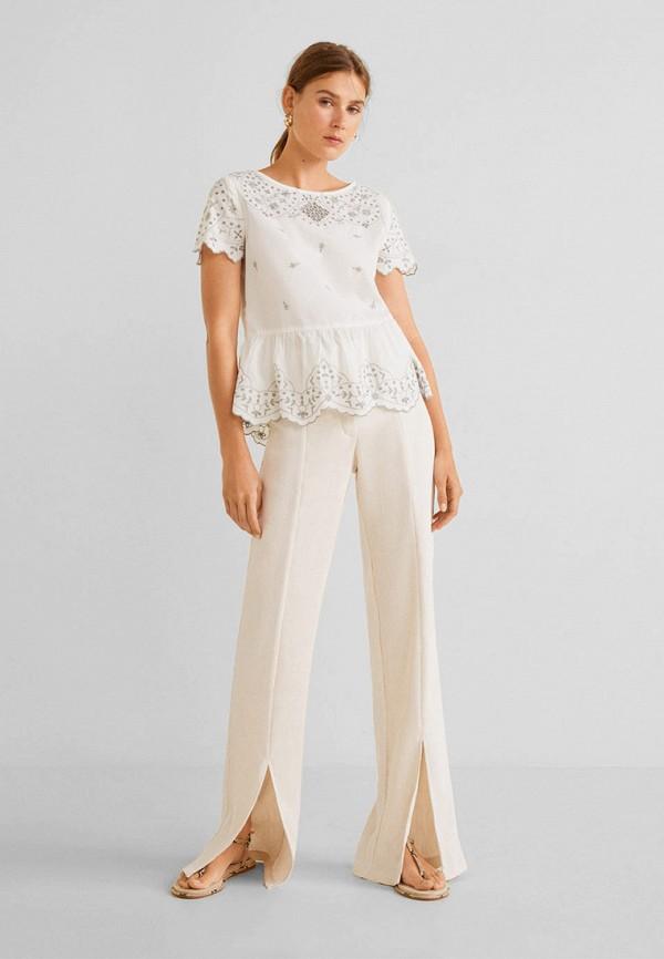 Фото 5 - женскую блузку Mango белого цвета