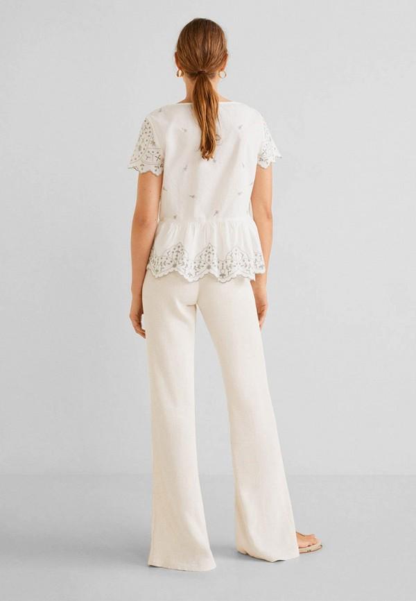 Фото 6 - женскую блузку Mango белого цвета