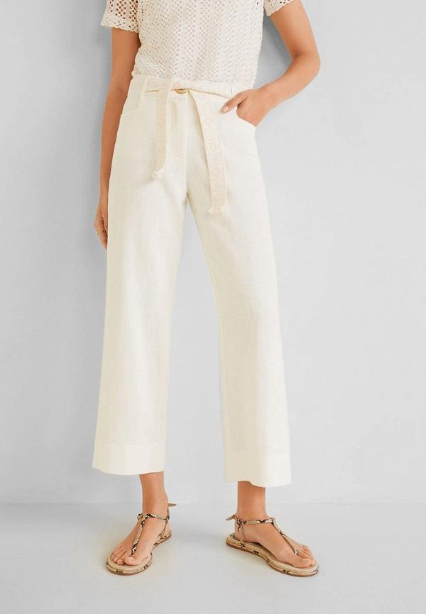 Купить женские брюки Mango белого цвета