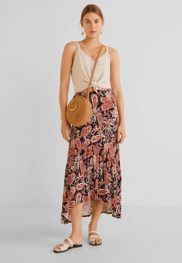 Фото 2 - женскую юбку Mango разноцветного цвета